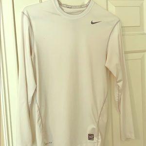 White Nike Drifit long sleeve